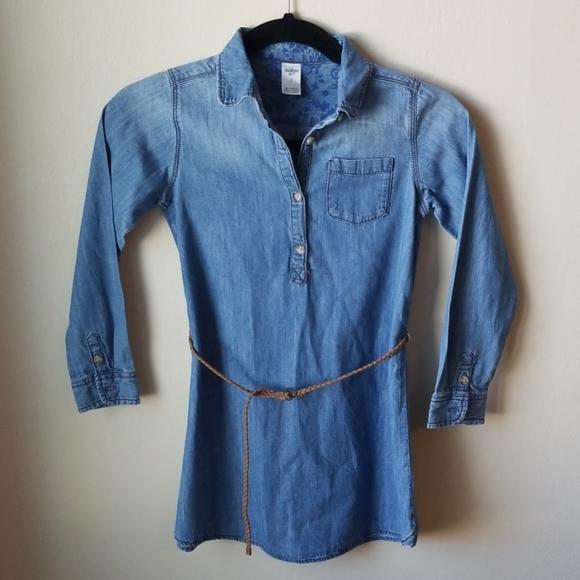 OshKosh B'gosh Other - Oshkosh denim shirt dress w/ braided belt, 7